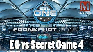 EG vs Secret (ESL One Frankfurt 2015) (Game 4) Full-game