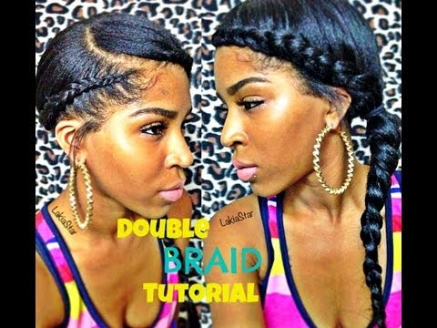 Double Side Braid Tutorial w Clip ins:) - YouTube