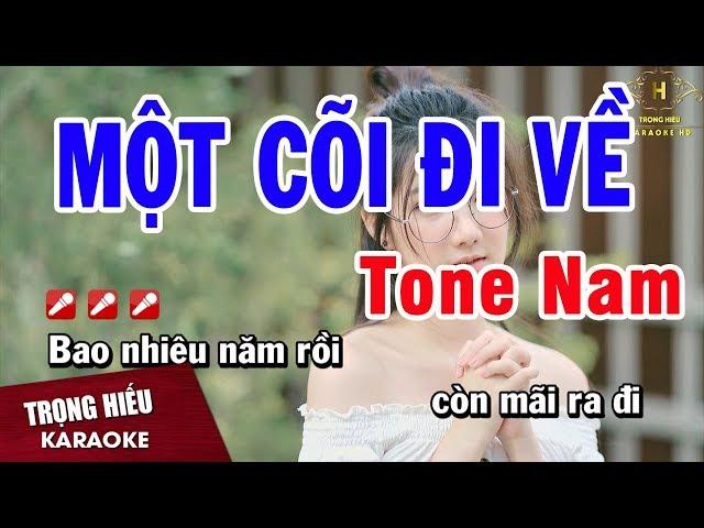 Một Cõi Đi Về Tone Nam Nhạc Sống | THU THẢO 04.24.20