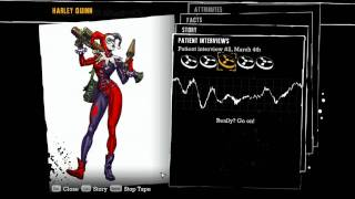 """Batman: Arkham Asylum"", all voiced interview tapes of Harley Quinn"