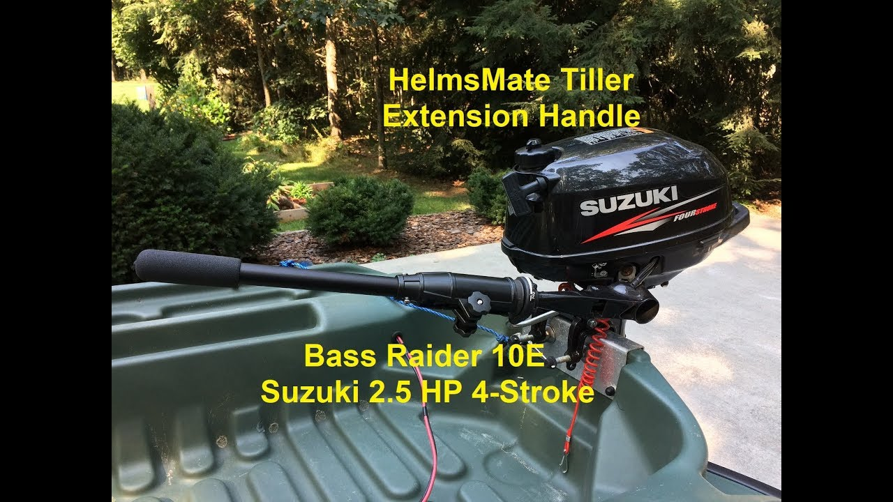 HelmsMate 18` Tiller Extension Handle - Pelican Bass Raider 10E - Suzuki  2 5HP 4 Stroke