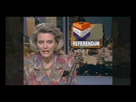 White South Africa votes in 1992 referendum (25 years ago)
