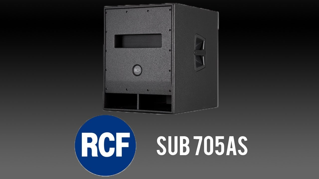 A look at the RCF 705AS Subwoofer