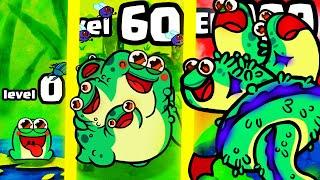 IS THIS STRONGEST HIGHEST LEVEL FROG MUTATION EVOLUTION? (9999+ LEVEL GOLD UPGRADE) l Toadled