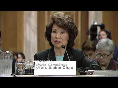 Chairman Barrasso Questions Secretary Chao on the Administration