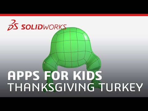Apps For Kids - Thanksgiving Turkey - SOLIDWORKS