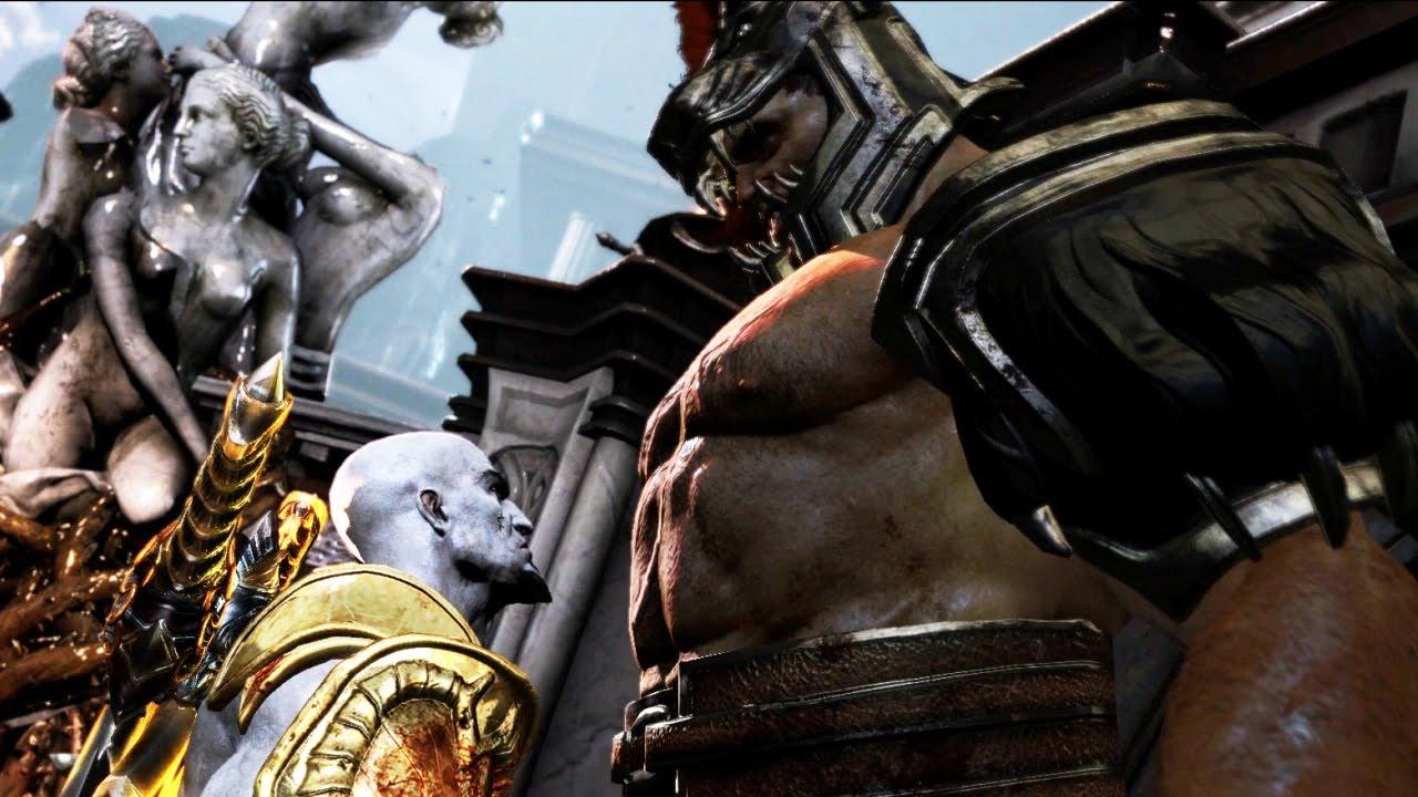 Hercules vs Kratos Full Boss Fight - God of War 3 REMASTERED 1080p 60FPS