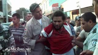 Lucha libre AMET y motorista en Jarabacoa