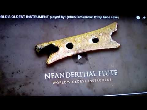 Neanderthal Flute: oldest musical instrument 45,000BC