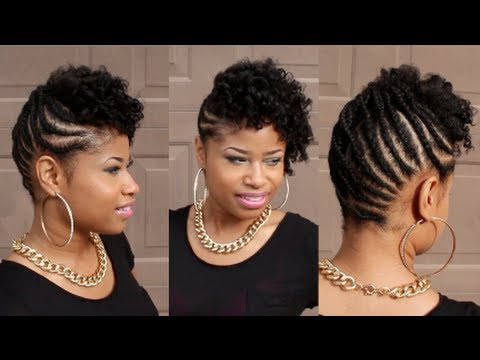 Curly Braided Updo On Natural Hair Youtube