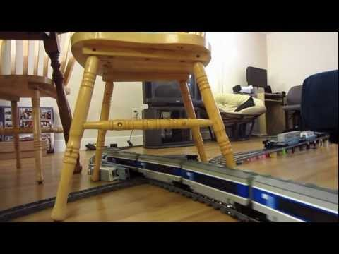 LEGO Maersk 10219 and custom TGV model train crash