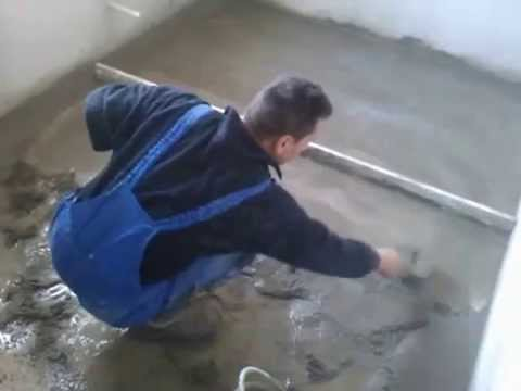 How to screed a floor with sand and cement