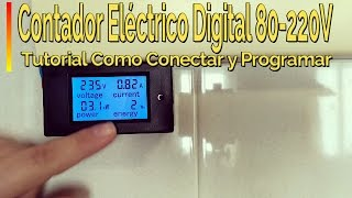 Como Instalar Contador Eléctrico Digital en Casa  PZEM-061 0-100A  AC80-260V