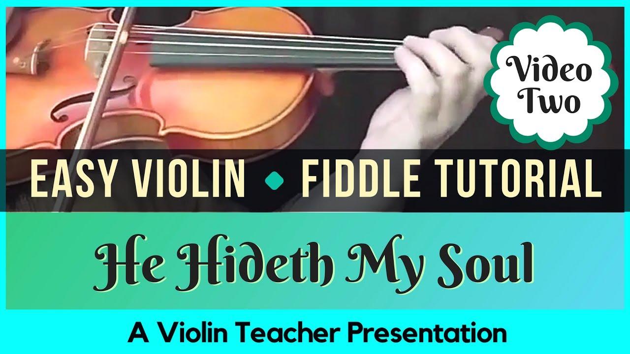Easy Violin Hymn Tutorial - He Hideth My Soul, Part 2 - Adding Drones