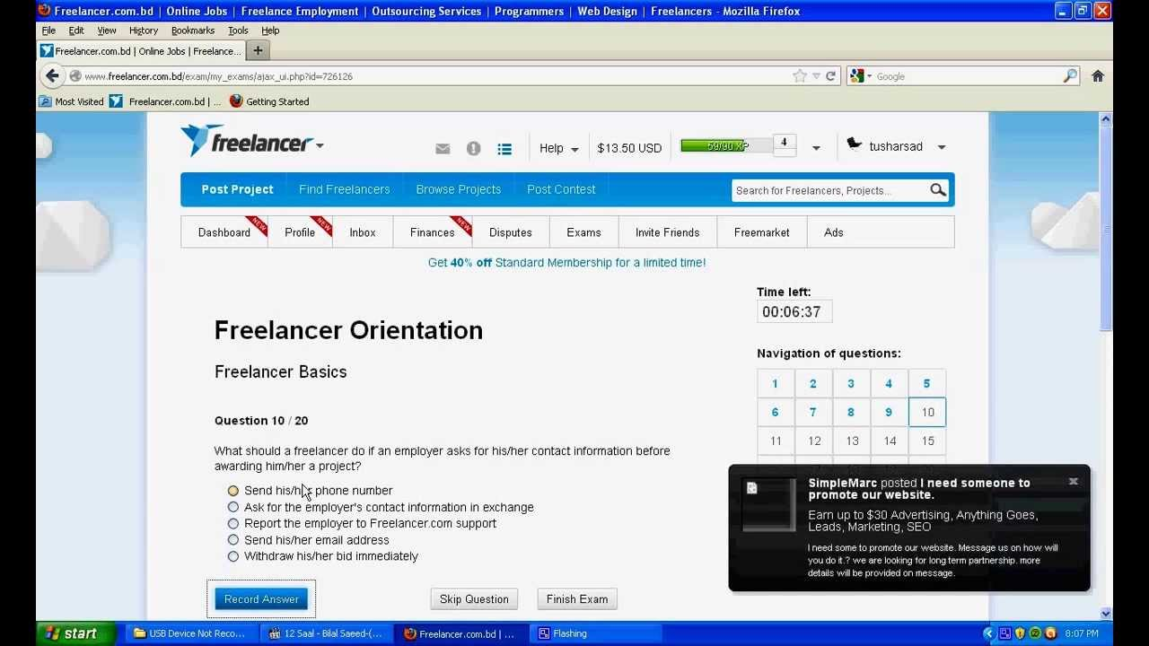 Freelancer exam фрилансер для журнала
