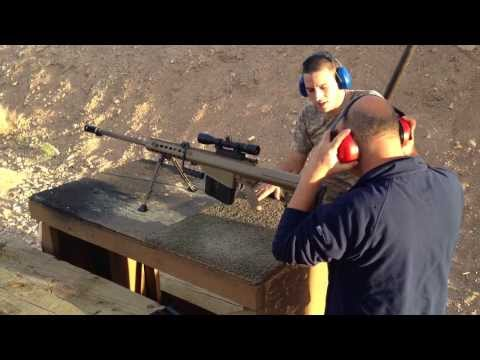 0.50 Cal, 12.7mm Barrett M107 Long Range Sniper Rifle Atışı, Arizona Last Stop Bullets and Burgers
