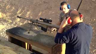 0.50 Cal, 12.7mm Barrett M107 Long Range Sniper Rifle Atışı, Arizona Last Stop Bullets and Burgers