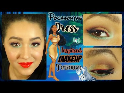 Pocahontas's Dress Inspired Makeup Tutorial (NoBlandMakeup)