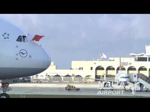 Lufthansa Airbus A380 roadshow at Malta International Airport - 19/3/2011