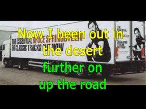 Futher up (on the road) - Bruce Springsteen video lyrics