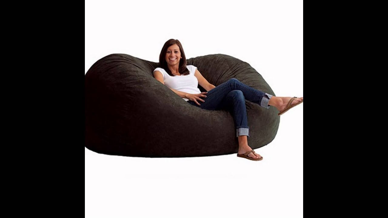 Merveilleux Black Bean Bag Chair For Adults   Soft Suede Sitsational Double Seater  Lounger