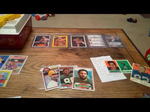The 4 horsemen collection, 85 Topps autos, Raymond Berry surprise!