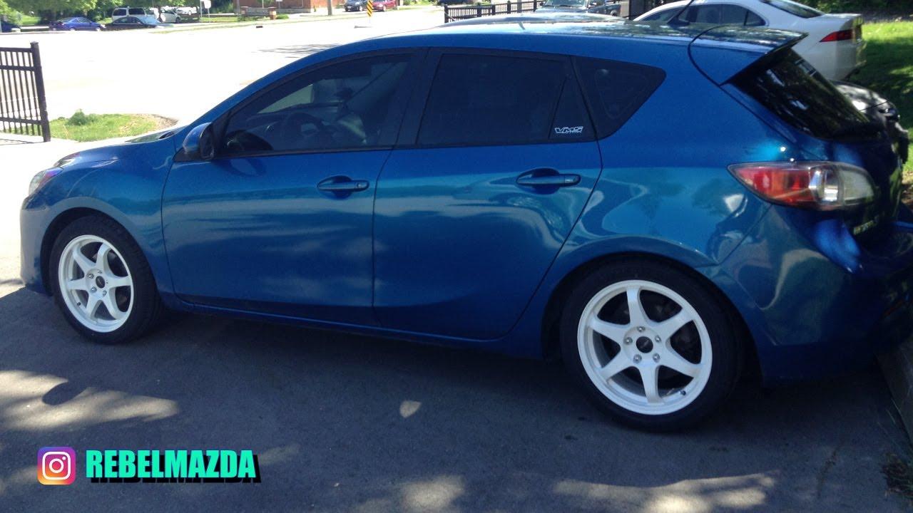 Pearl White Rims Mazda 3 - 17