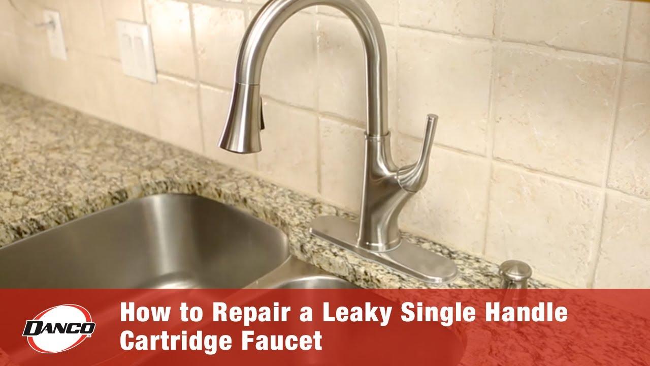 a leaky single handle cartridge faucet