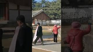 북한 결혼사진촬영현장