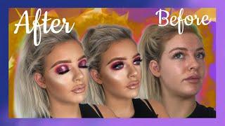 Pink Spotlight Eyeshadow   Client Makeup Tutorial   Madalyn Davis Mua
