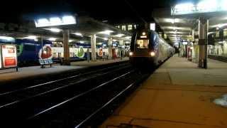 Compilation de trains SNCF aux gares des Yvelines en soirée