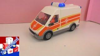 Playmobil ziekenwagen – Patient wordt in de ambulance naar de kinderkliniek gebracht