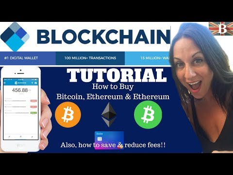BlockChain.info Beginners Tutorial: How to buy Bitcoin & Reduce Fees 2018