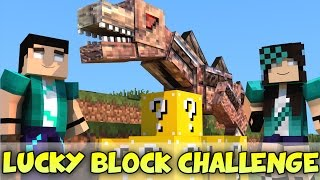 minecraft com namorada nastyssaurus challenge games lucky block mod mini game com mods