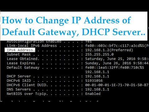 No Ip Address >> How to change IP Address of Default Gateway, DHCP Server & Subnet Mask in LAN Network (ADSL ...