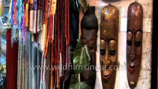 Vast array of handicrafts and ideal gifts items at a shop in Sikkim