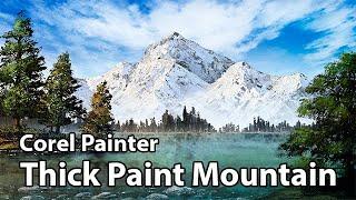 Thick Paint Mountain - Corel Painter 2018 Landscape Course (TRAILER)