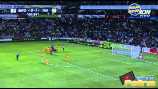 Querétaro vs Tigres 0-1 Jornada 5 Apertura 2014 Copa Mx HD - RESUMEN GOLES