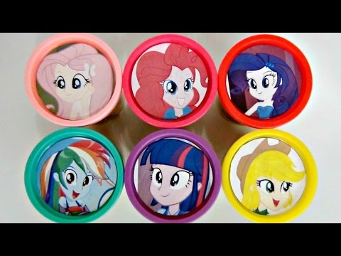 Nat and Essie Teach Colors with Equestrian Girls MLP Play-Doh Lids
