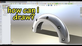 SolidWorks   How Can I Draw 3D Part (Exercise 20)
