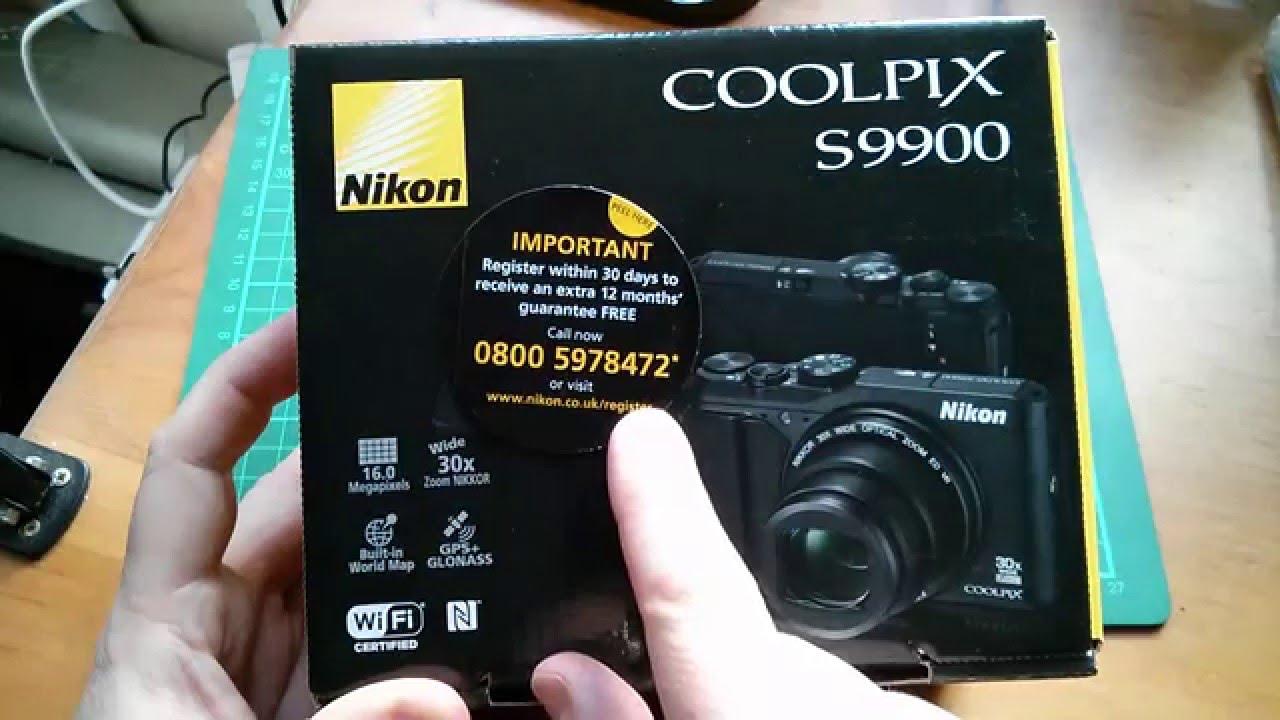 Nikon Coolpix S9900 Compact Camera Unboxing