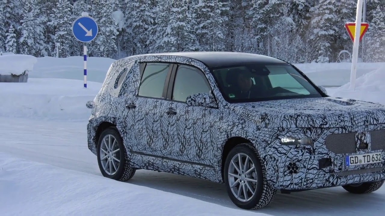2019 mercedes benz glb winter spy video youtube. Black Bedroom Furniture Sets. Home Design Ideas