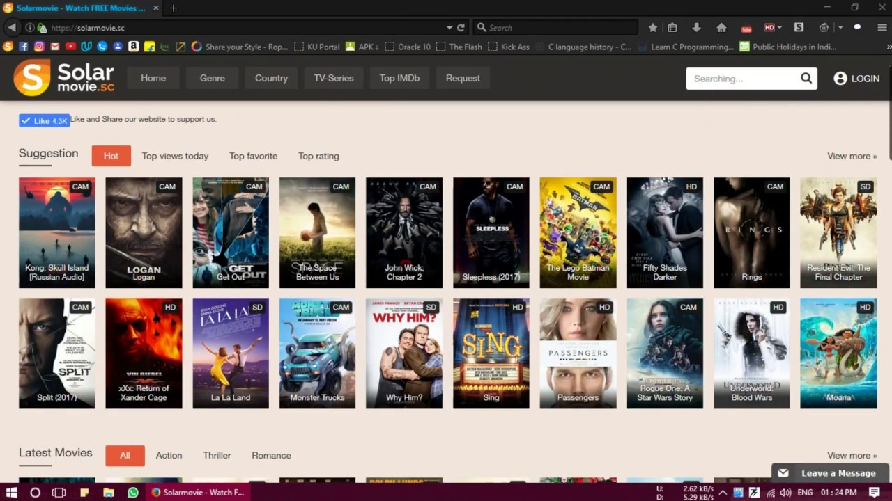 A good site for movies is solarmovie