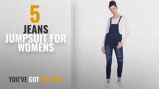 Top 10 Jeans Jumpsuit For Womens [2018]: Broadstar Women Denim Blue Dungarees