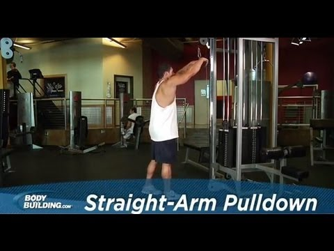 Straight Arm Pulldown - Back Exercise - Bodybuilding.com