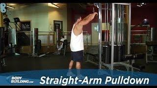 Straight arm lat pulldown