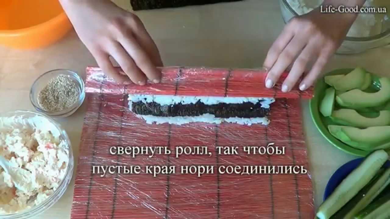 простой рецепт суши в домашних условиях видео