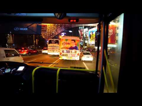 Philippines, P2P bus ride from Makati to Robinsons Fairview @ night