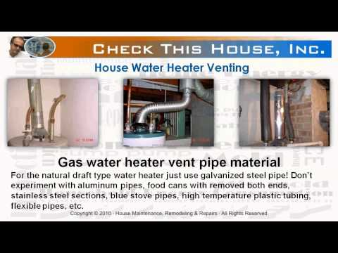 Hot Water Heater Venting, How To Vent A Gas Water Heater