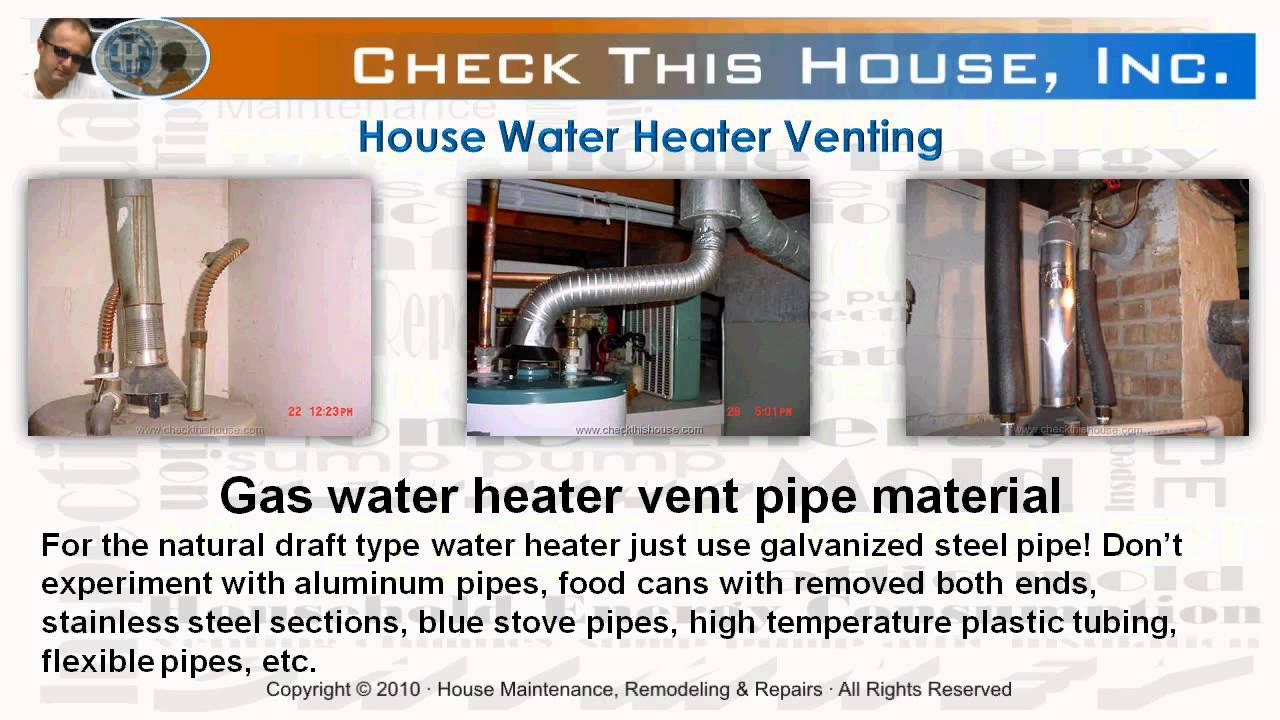 Hot water heater venting how to vent a gas water heater